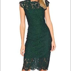 Forest Green Cocktail Dress
